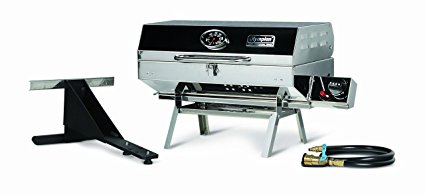 Camco Olympian 5500 Stainless Steel Portable Gas Grill by Connects To Low Pressure Supply On RV, Includes RV Mounting Bracket And Folding Tabletop Legs – 180″ (57305) Review