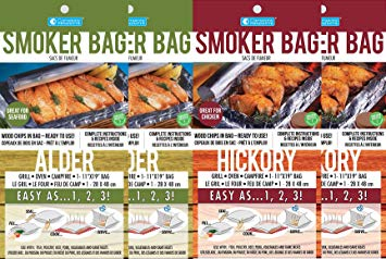 Smoker Bag for Oven/Grill, the Original, in Alder(2) and Hickory(2), 4 Pack Review