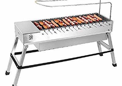 Spark4grill Automatic Rotating Charcoal BBQ Grill Barbecue Stainless Steel(complete set) Review
