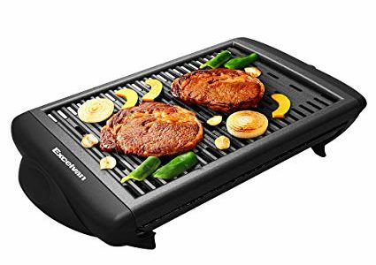Excelvan Indoor Electric Classic Plate Barbecue Grill Adjustable Temperature Easy Clean, Smokeless, Removable and Nonstick, 1120W, Black, 20 x 10 x 4 Inch Review