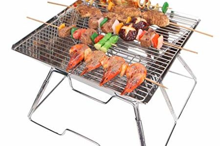 yodo Portable Folding Tailgate Grill Charcoal Grill for Camping Roadtrip Backpacking Party Review
