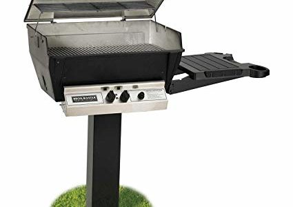 Broilmaster H3PK2N Natural Gas H3XN Grill Head Package with In Ground Post (BL48G) and 1 Drop Down Side Shelf Review
