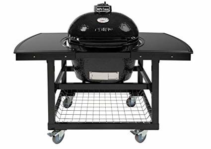 Primo Oval LG 300 Ceramic Smoker Grill On Cart with 2-Piece Island Top Review