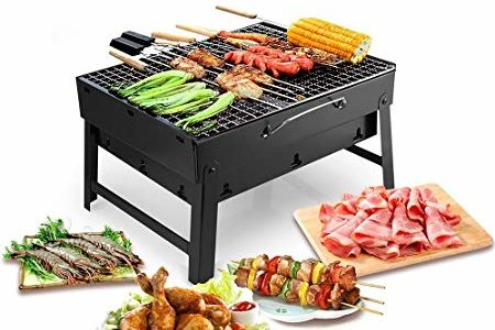 Ellenge Barbecue Charcoal Grill Portable Lightweight Simple Grill Perfect Folding BBQ Tools for Outdoor Campers Barbecue (Type 1) Review