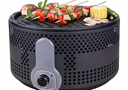 Portable Smokeless Charcoal Electric BBQ Grill Compact Barbecue Grill for Backyard Camping Picnic Party with Removable Turbo Fan Travel Bag Black Review