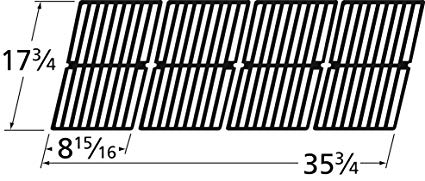 Gloss Cast Iron Cooking Grid Replacement for Gas Grill Models Brinkmann 810-3660-S and Smoke Canyon GR2002401-5C-00, Set of 4 Review