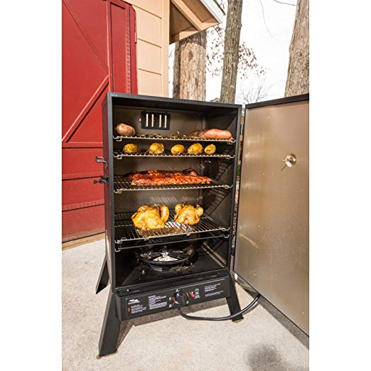 Masterbuilt 40 Inch Outdoor Sportsman Elite Extra Large Gas Barbeque Smokehouse
