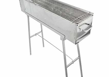 Party Griller Yakitori Grill 32″ x 8″ – Portable Stainless Steel Charcoal BBQ Grill w/ 32″ Barbecue Grate. Great Satay, Lamb Kebab Grill. Makes Juicy Shish Kebab, Shashlik, Spiedini on the Skewer Review
